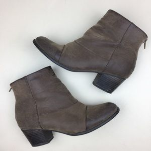 Fergalicious By Fergie Distressed Ankle Boots